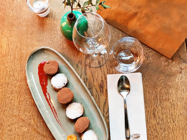 LES VAILLANT Mignardises - 6 Sablés Ganache Chocolat-Lemon Curd