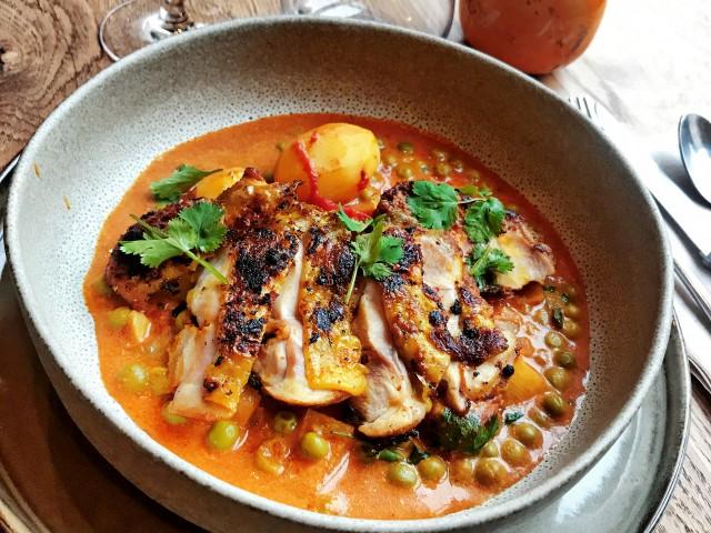 LES VAILLANT PLAT - Haut Cuisse Poulet Tandoori Curry Légumes & Chapati